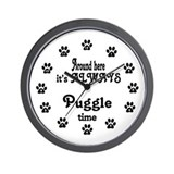 Puggle Time Paw Numbers Wall Clock