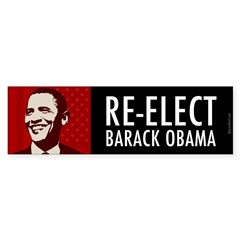 Re-Elect Obama Sticker (Bumper 50 pk)