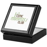 1st Time Mommies Club (Green) Keepsake Box