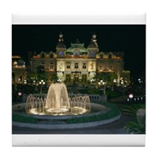 Monte Carlo Casino at Night Tile Coaster
