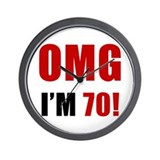 OMG 70th Birthday Wall Clock