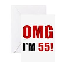 OMG 55th Birthday Greeting Card