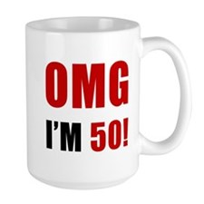 OMG 50th Birthday Mug