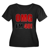 OMG 40th Birthday Women's Plus Size Scoop Neck Dar