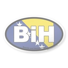 Bosnia and Herzegovina BiH Euro Oval Sticker with