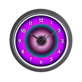Neon Colors Wall Clock