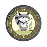 Raccoon Enchanted Forest Wall Clock