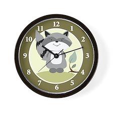 Raccoon Enchanted Forest Wall Clock