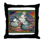 Trumpeters Three Throw Pillow