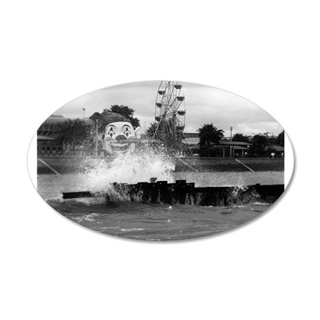 Pontchartrain Beach 1941 22x14 Oval Wall Peel