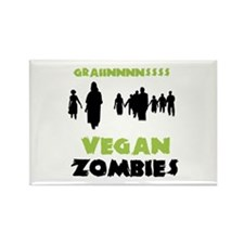 Vegan Zombies Rectangle Magnet