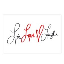 Live Love Laugh Postcards (Package of 8)