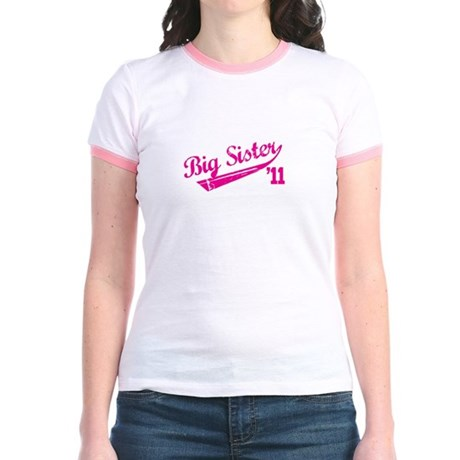 big sister varsity Jr. Ringer T-Shirt