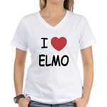 I heart elmo Women's V-Neck T-Shirt