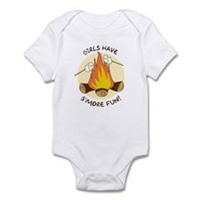 """Girls Have S'more Fun"" Infant Bodysuit"
