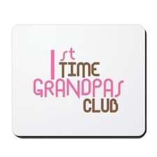 1st Time Grandpas Club (Pink) Mousepad