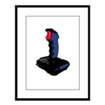 1980's Joystick Large Framed Print