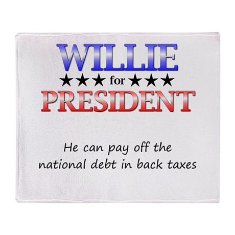 Willie For President Throw Blanket
