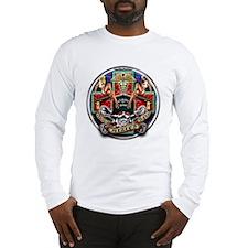 USN Navy Corpsman HM Skull Long Sleeve T-Shirt