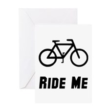 Ride Black Greeting Cards
