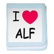 I heart alf baby blanket