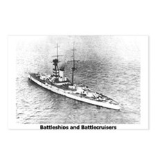 Battleships and Battlecruiser Postcards (Package o