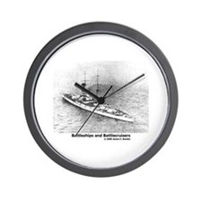 Battleships and Battlecruiser Wall Clock