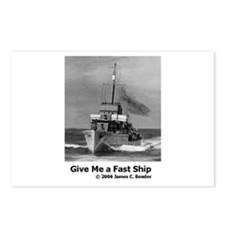Give Me a Fast Ship Postcards (Package of 8)