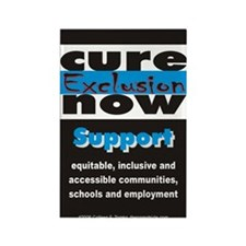 Cure Exclusion Rectangle Magnet