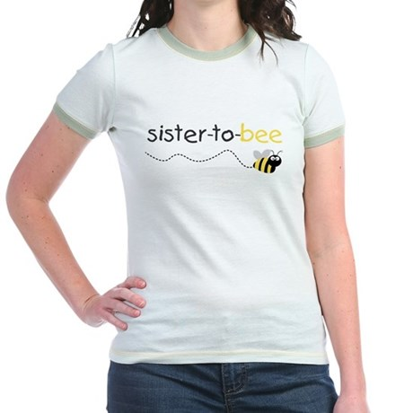 big sister to bee Jr. Ringer T-Shirt