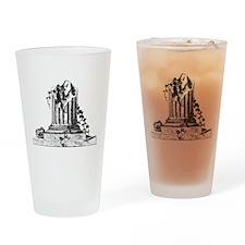 Masonic Broken Column Pint Glass