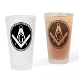 Masonic Square and Compass Pint Glass