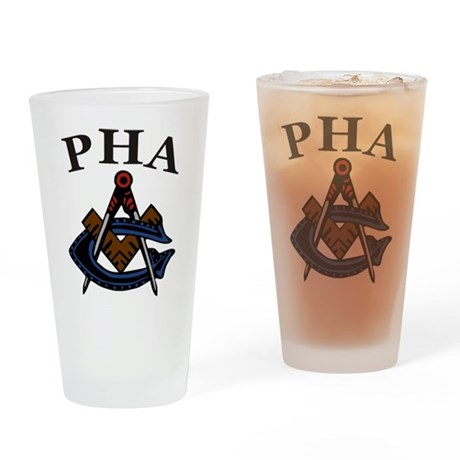 PHA Square and Compass Drinking Glass