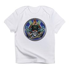 USN Navy Veteran Skull Flag Infant T-Shirt