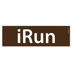 iRun Bumper Sticker