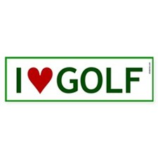 I Love Golf Bumper Bumper Sticker