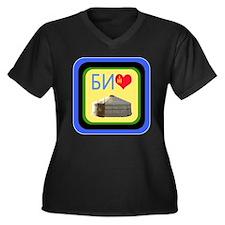 Cute Contortionist Women's Plus Size V-Neck Dark T-Shirt