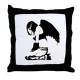 Crow Child Throw Pillow