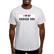 I Love My Akbash Dog Ash Grey T-Shirt