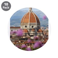 "Duomo (Florence Cathedral) 3.5"" Button (10 pack)"