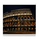 Colosseum at Night Tile Coaster