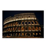 Colosseum at Night Postcards (Package of 8)