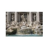 Trevi Fountain Rectangle Magnet