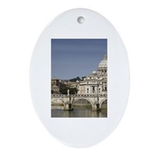 Vatican over the River Ornament (Oval)