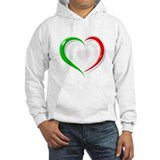 Italian Flag Heart Jumper Hoody