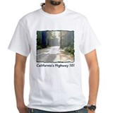 """Arty"" Hwy. 101 t-shirt--white"