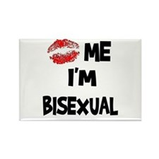 Kiss Me I'm Bisexual Rectangle Magnet