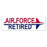 Air Force Retired <BR>Bumper Car Sticker