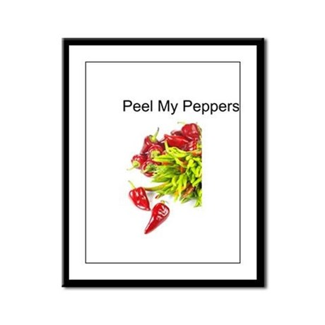 Peel My Peppers Framed Panel Print