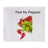 Peel My Peppers Throw Blanket